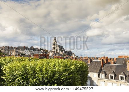Saint-Louis Cathedral in Blois. Blois Pays de la Loire France