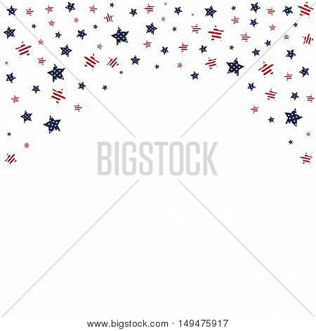 USA background. Stars decorated in the style of the American flag colors