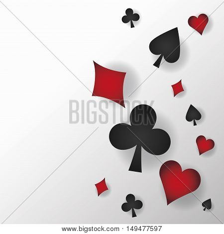 cards symbols of poker icon. Casino and las vegas theme. Colorful and isolated design. Vector illustration