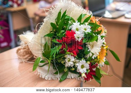 Bouquet of beautiful flowers. Selective focus image