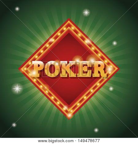 Poker frame icon. Casino and las vegas theme. Colorful design. Vector illustration