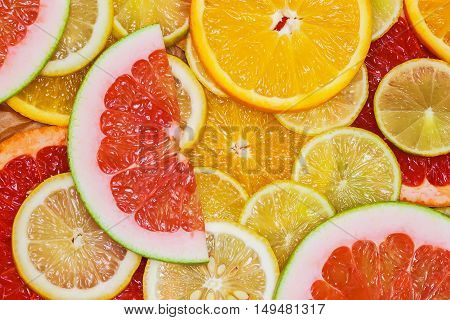 Juicy bright citrus fruit for natural background. Theme of healthy eating, diet, vitamins