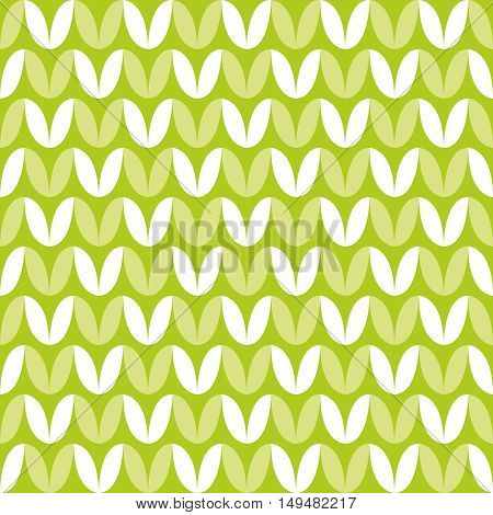 Tile green and white knitting vector pattern or winter background