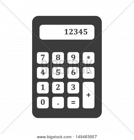 Calculator With Numbers Icon. Calculator With Numbers Vector Isolated On White Background. Flat Vect