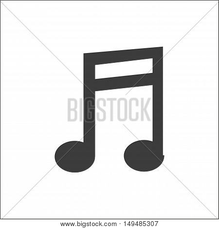 Musical note icon. Musical note Vector isolated on white background. Flat vector illustration in black. EPS 10