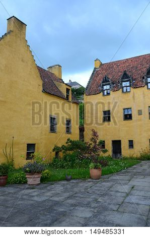 An external view of the medieval palace in Culross