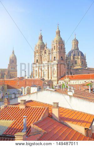 Beautiful view of Salamanca in Spain