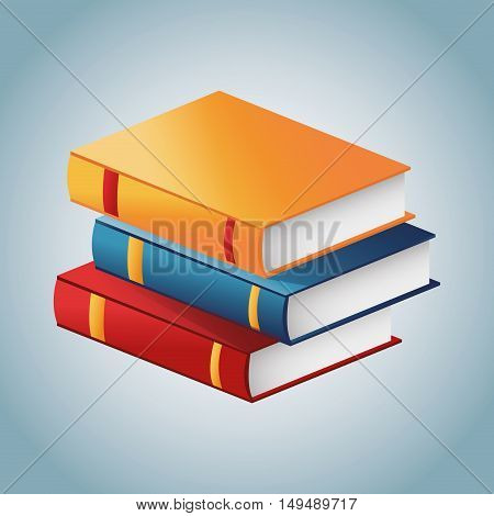 Book icon. Education learning and literature theme. Colorful design. Vector illustration