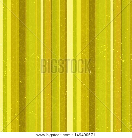 Vertical Yellow Stripes Pattern, Seamless Texture Background. Ideal For Printing Onto Fabric And Pap