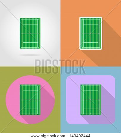 tennis court flat icons vector illustration isolated on background