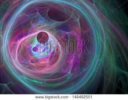 Abstract compute -generated image on black background