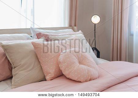 Pink Color Tone Bedroom Interior Design
