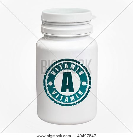 Bottle Of Pills With Vitamin A