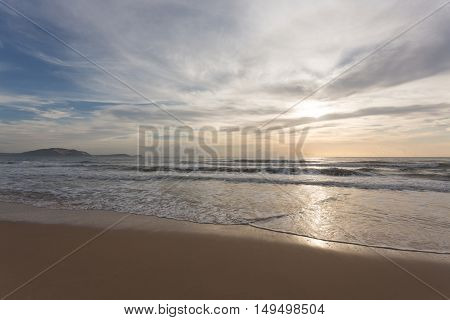Beautiful Summer Sea And Clear Sky With Cloud Background