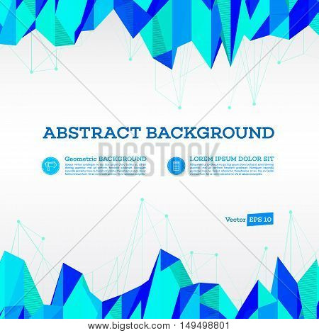 Abstract background. Polygonal geometric banners for modern design. Abstract vector modern flyer. Brochure design templates with colorful geometric triangular background