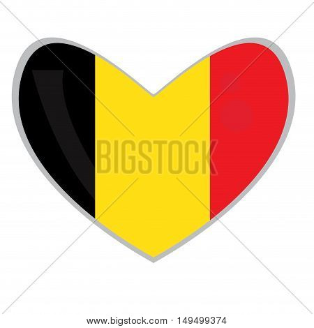 Isolated Belgian Flag