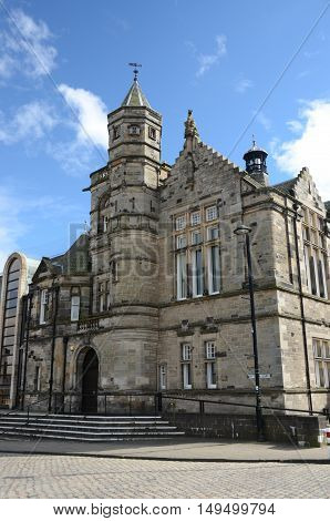 An external view of a stone built public building in Kirkcaldy