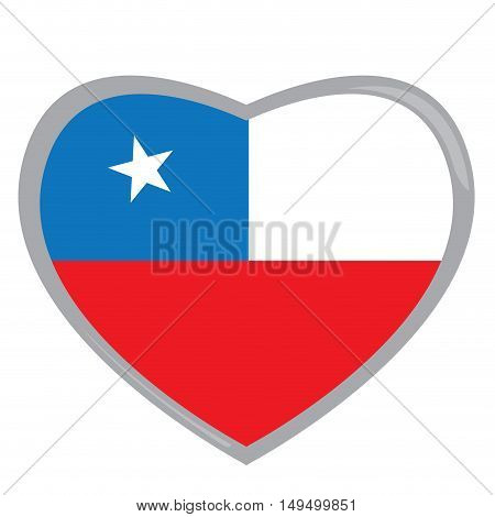 Isolated Chilean Flag