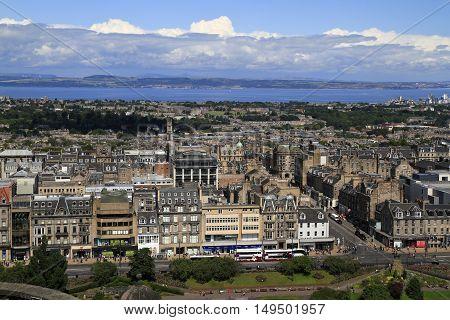 A View Over Edinburgh From Castle Hill, Scotland