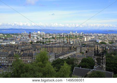 A View Over Edinburgh From Calton Hill, Scotland
