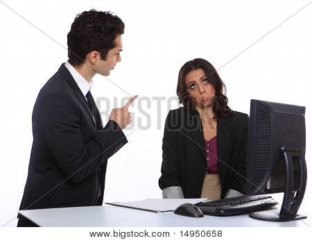 Angry Manager With Secretary
