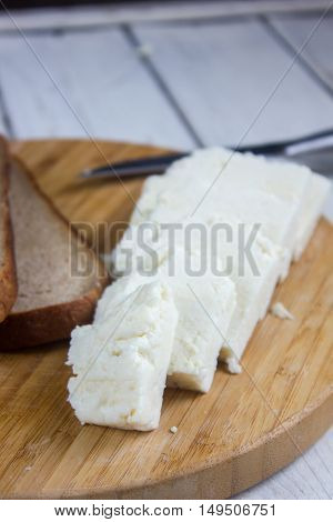 Traditional indian cheese panneer prepared form fresh milk