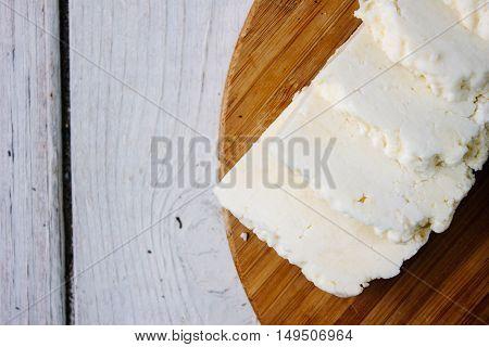 Traditional indian cheese panneer prepared form fresh milk
