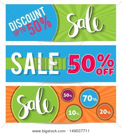 PrintSale and special offer. Colorful background, discounts, percent, sale. Vector illustration