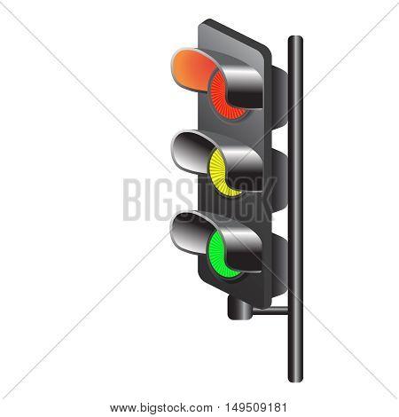 Traffic lights, vector,traffic, transportation, urban, vector, warning, web, white,