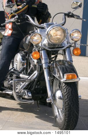 Front End Of Motorbicycle