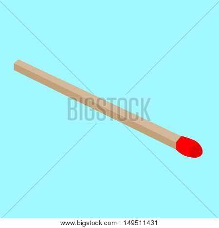 match wooden red stick isolated vector illustration