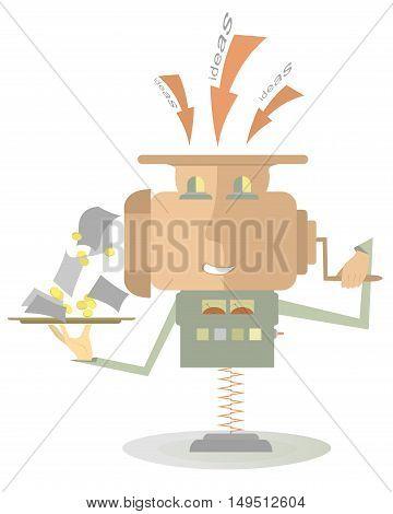 Moneymaker machine. Moneymaker machine converts ideas to money