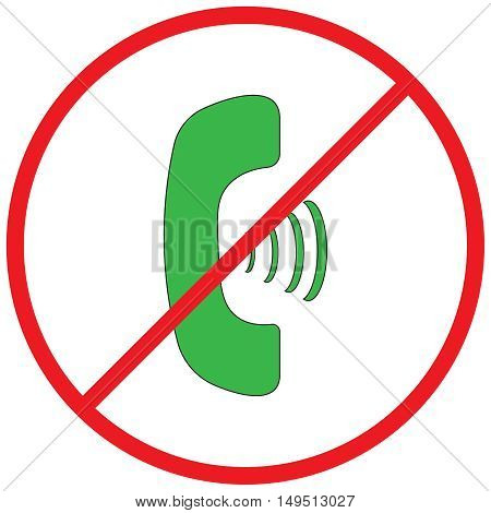 No phone vector sign,prohibit sign,protection, protest, red, refrain, restrict, restricted, restriction,
