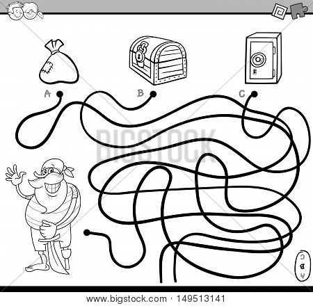 Path Maze For Coloring