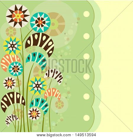 Template greeting card, pattern. Stock vector illustration