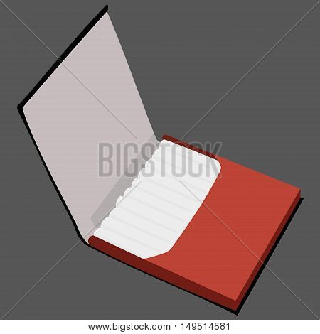 brown full cigarette case isolated vector illustration