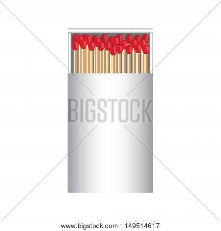 full matchbox white with matches vector illustration