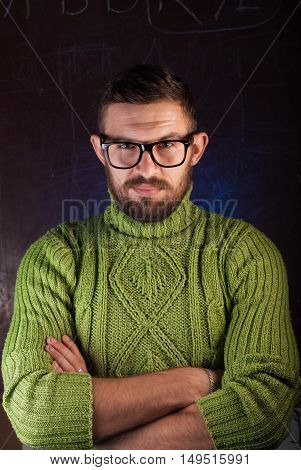 Portrait Of A Bearded Man With Glasses,