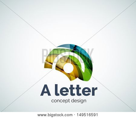 A letter concept logo template, abstract business icon