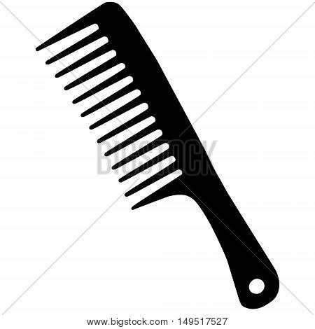 barber hairdresser comb black vector isolated illustration
