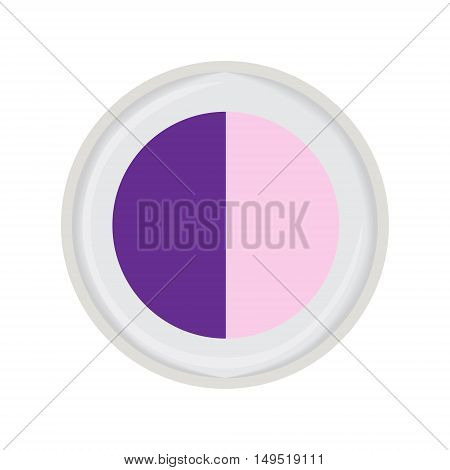 eye shadow duo violet vector isolated illustration