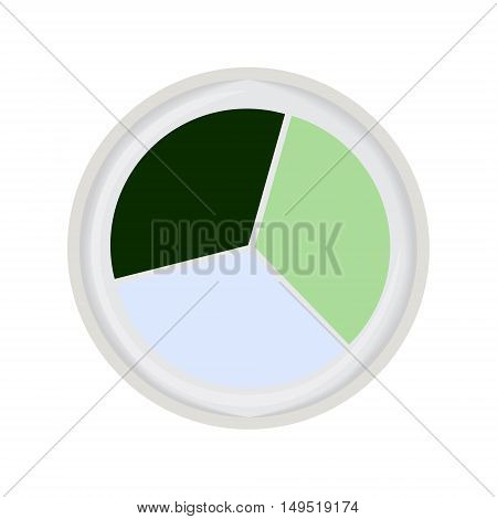eye shadow trio green isolated vector illustration