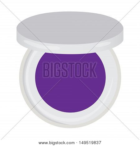 eye shadow palette violet compact isolated vector illustration