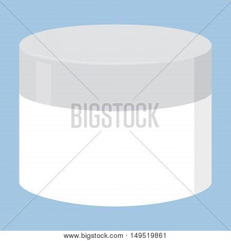 face cream white isolated bottle vector illustration