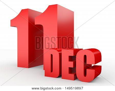 December 11. Text On White Background.