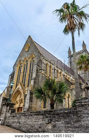 The Cathedral of the Most Holy Trinity a historic Anglican church in Hamilton Bermuda.