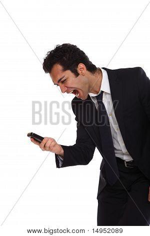 Angry At His Phone