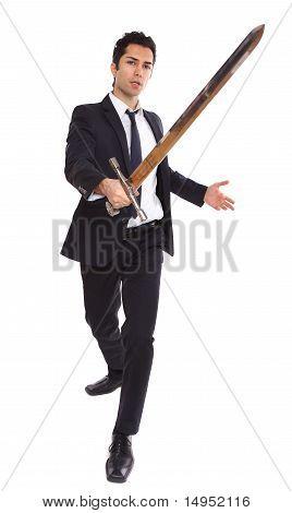 Sword Businessman