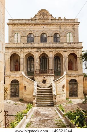 abandoned palace in Rabat. Maltese architecture in Mdina, Malta
