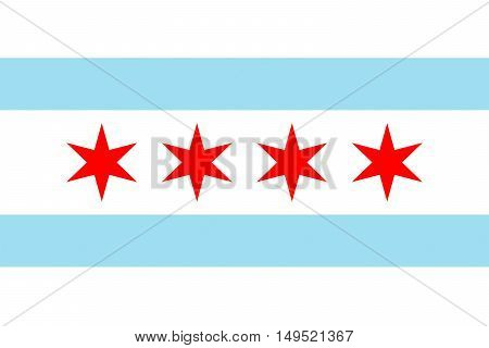 Flag of Chicago is the third most populous city in the United States